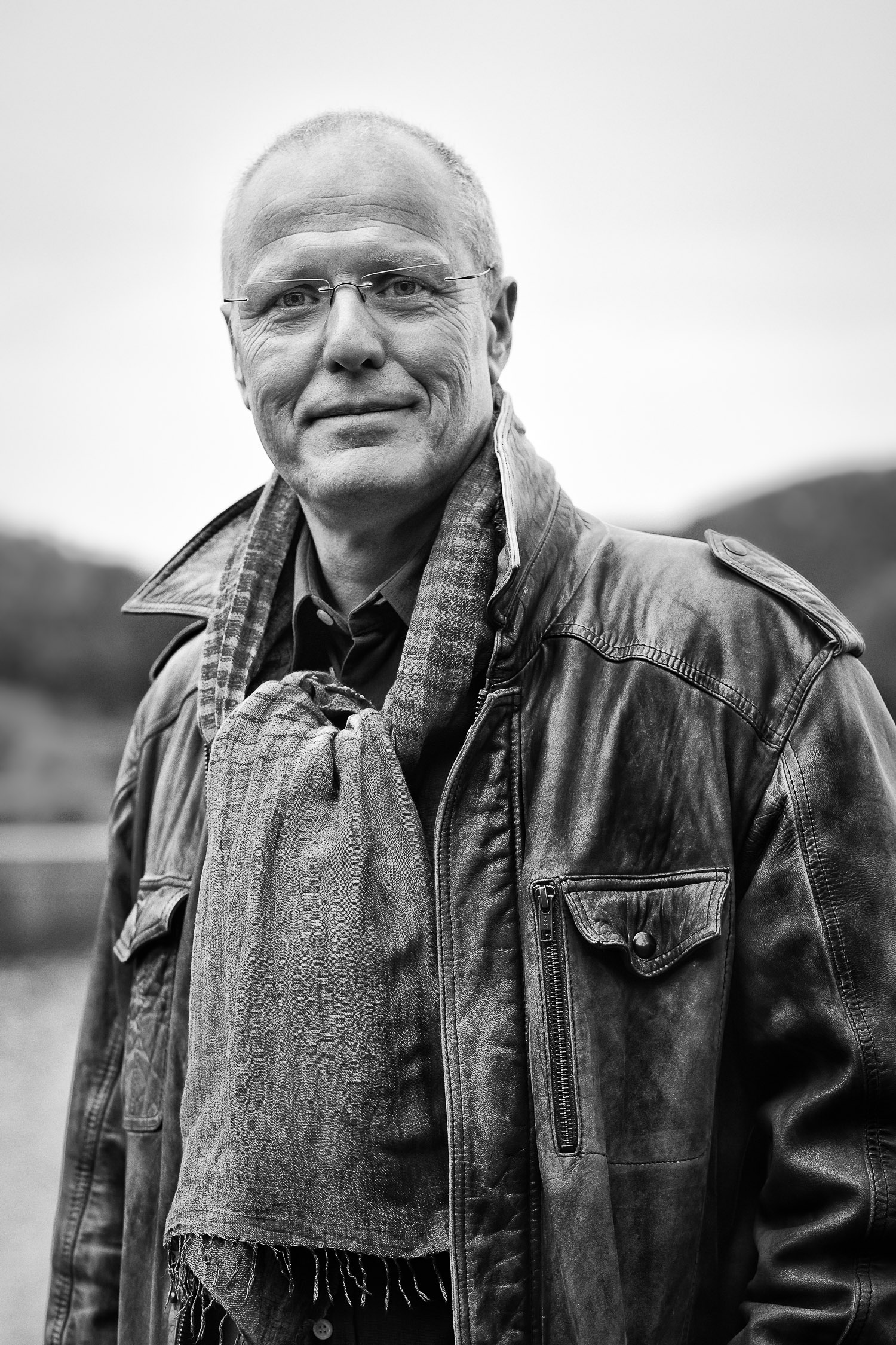 Men portrait, black and white , outdoor,business