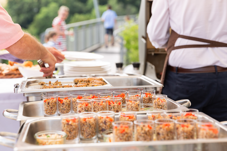 Wedding food, outdoor, Hochzeit, Andrea Schenke Photography